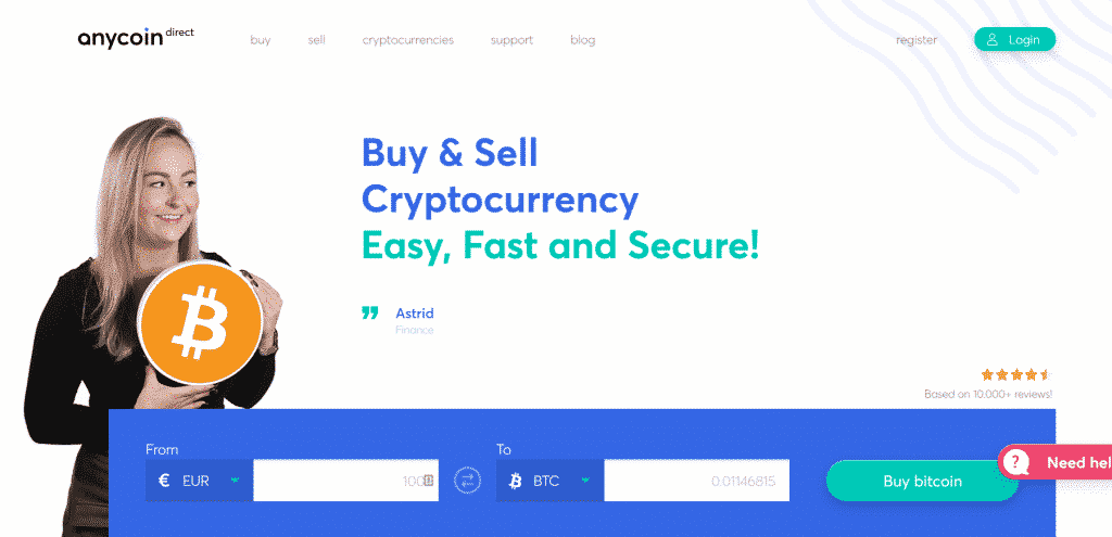 Anycoin Direct Website
